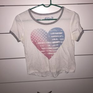 red white and blue heart shirt